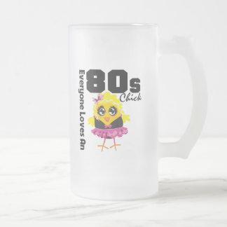 Cada uno ama un polluelo 80s taza cristal mate
