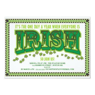 Cada uno es fiesta del día de St Patrick del Invitación 12,7 X 17,8 Cm