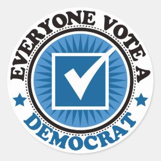 Cada uno vota a un Demócrata Etiqueta Redonda