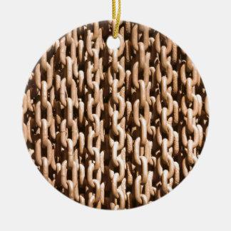 Cadena aherrumbrada colgante del hierro ornamentos de navidad