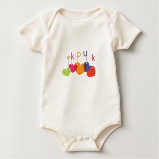 Cadena de corazones body para bebé