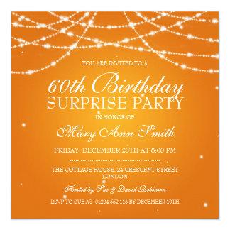 Cadena de fiesta de cumpleaños de la sorpresa de anuncio