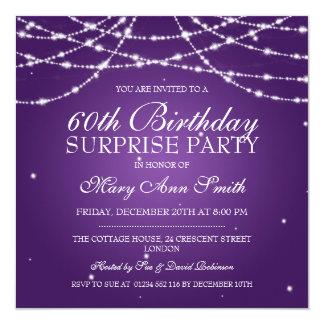 Cadena de fiesta de cumpleaños de la sorpresa de invitacion personalizada