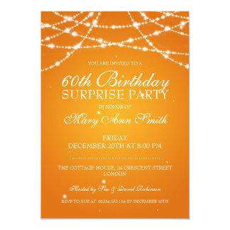 Cadena de fiesta de cumpleaños de la sorpresa de invitación