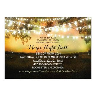 cadena de invitaciones rústicas del baile de fin invitaciones personalizada