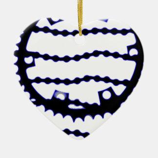 Cadena de la velocidad adorno navideño de cerámica en forma de corazón