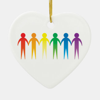 Cadena del orgullo adorno de cerámica en forma de corazón