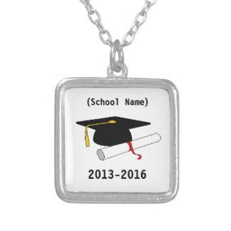 Cadena personalizada de la graduación collar plateado