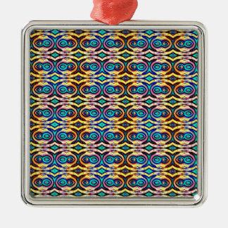 Cadenas abstractas multicoloras. Modelo geométrico Ornamento De Reyes Magos