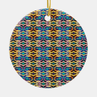Cadenas abstractas multicoloras. Modelo geométrico Adorno De Navidad