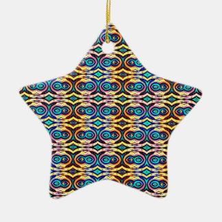 Cadenas abstractas multicoloras. Modelo geométrico Ornamentos De Reyes Magos