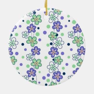 Cadenas de flor púrpuras ornamentos de navidad