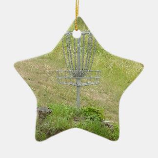 Cadenas de una cesta del golf del disco adorno navideño de cerámica en forma de estrella