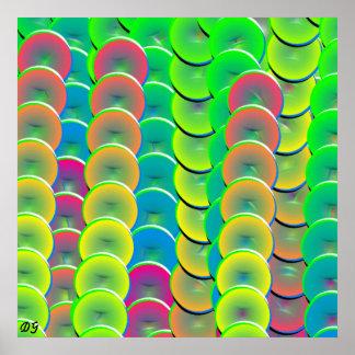 Cadenas del diseño del extracto del color póster