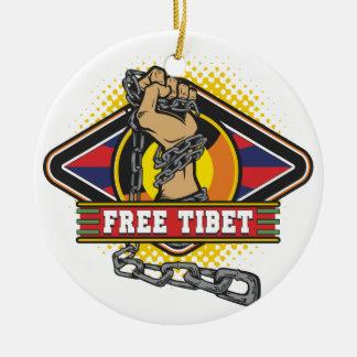 Cadenas libres de Tíbet Adorno Navideño Redondo De Cerámica