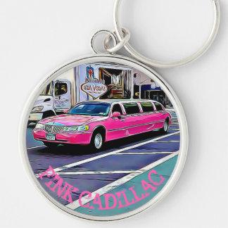 Cadillac rosado en llavero de NYC