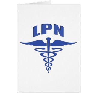 Caduceo autorizado de la enfermera tarjeta de felicitación