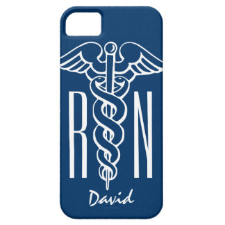 Caduceo azul de la cubierta el | RN del iPhone 5 Funda Para iPhone SE/5/5s