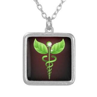 Caduceo: Collar del cuadrado de la medicina