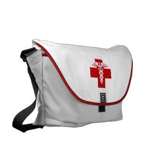 Caduceo de la enfermera bolsa de mensajería