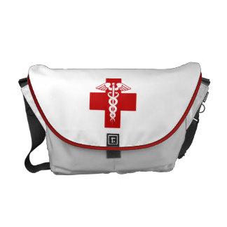 Caduceo de la enfermera bolsas messenger