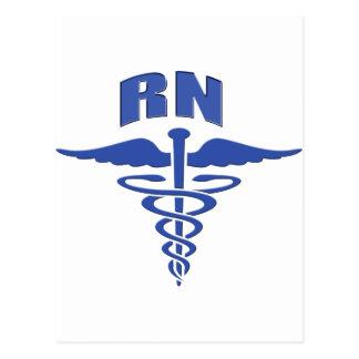 Caduceo de la enfermera del registro de la enferme tarjeta postal