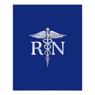 Caduceo del RN de la enfermera registradoa en Flyer A Todo Color