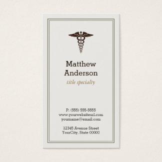 Caduceo médico del profesor estudiante - obra tarjeta de negocios