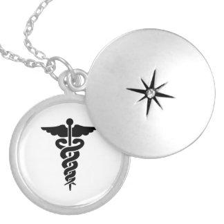 Caduceo médico del símbolo de las enfermeras collar con colgante
