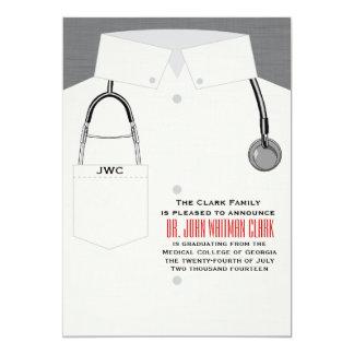Caduceo y invitación médica del estetoscopio