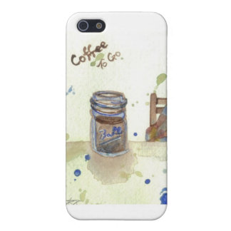 Café a ir artículos de cocina del arte popular iPhone 5 cobertura