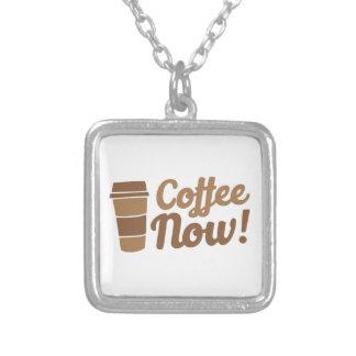 café ahora collar plateado
