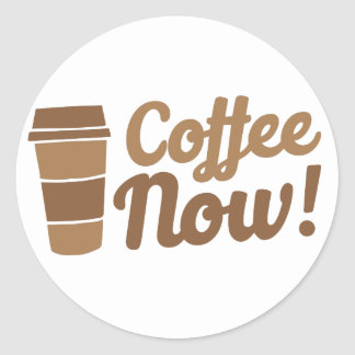 café ahora pegatina redonda