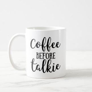 Café antes de la película hablada taza de café