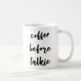 Café antes de la taza de café de la película