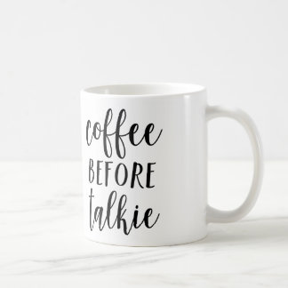 Café antes de la taza de la película hablada