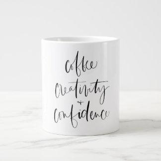 Café, creatividad + Taza de la confianza