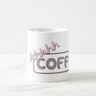 """CAFÉ de Ahhhh"" personalizado Taza De Café"