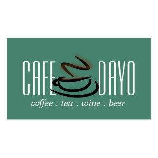 Café de la cerveza del vino de la tienda del té de tarjetas de visita