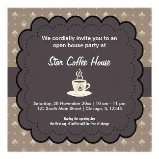 Café de la gran inauguración anuncio personalizado