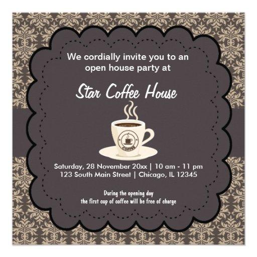 Café de la gran inauguración comunicados personales