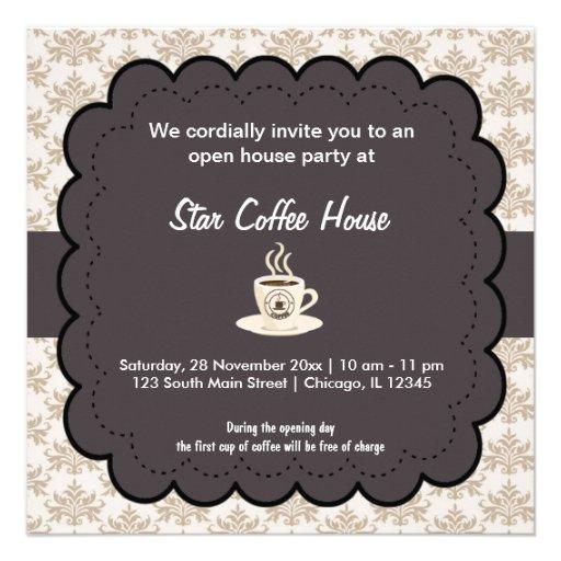 Café de la gran inauguración comunicado personal