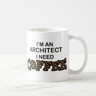 Café de la necesidad - arquitecto taza básica blanca
