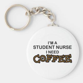 Café de la necesidad - enfermera de estudiante llavero redondo tipo chapa