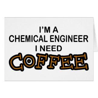 Café de la necesidad - ingeniero químico tarjeta de felicitación