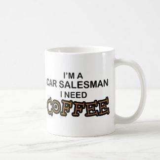 Café de la necesidad - vendedor de coches taza de café