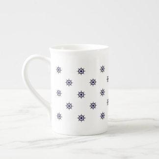 Café de la rueda/taza náuticos del té taza de té