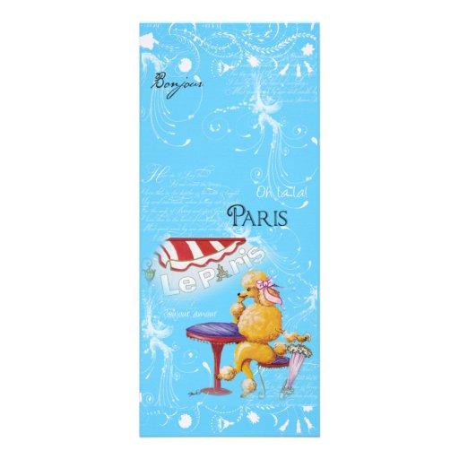 Café de París del caniche del albaricoque Comunicados Personalizados