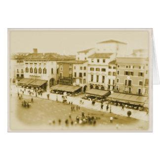 Café de Verona - hagamos el almuerzo - tarjeta de