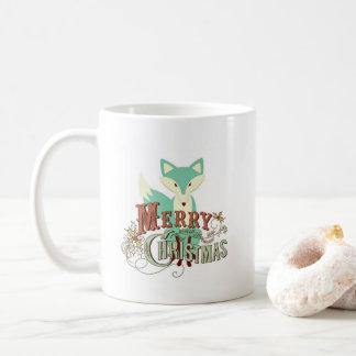 Café del Fox del verde del trullo de las Felices Taza De Café
